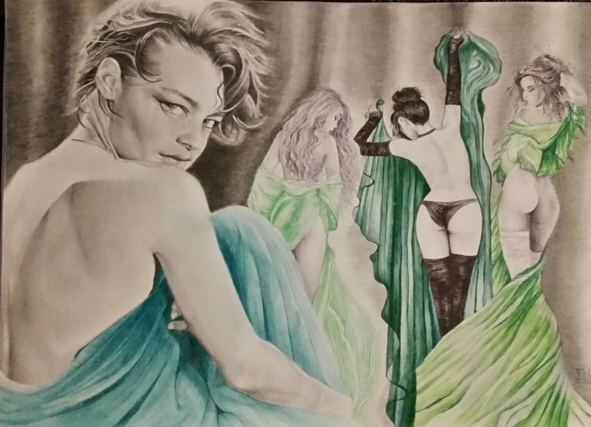 Romy Schneider por Fema